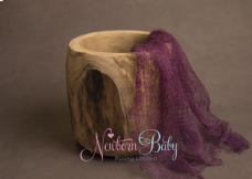 Plain Colour Lacey Wrap/Stuffer - WINE RED